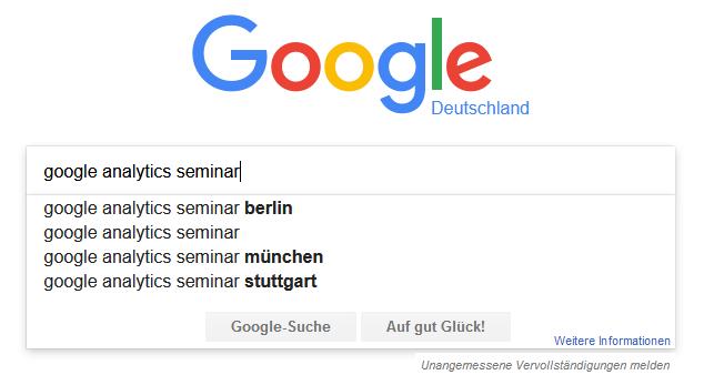 So wird Ihr Springest-Seminar sehr gut in Suchmaschinen gefunden