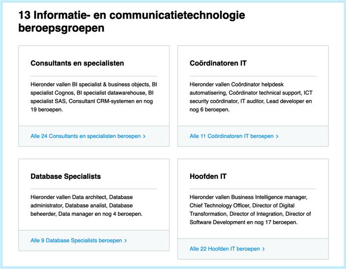 beroepsgroepen ICT
